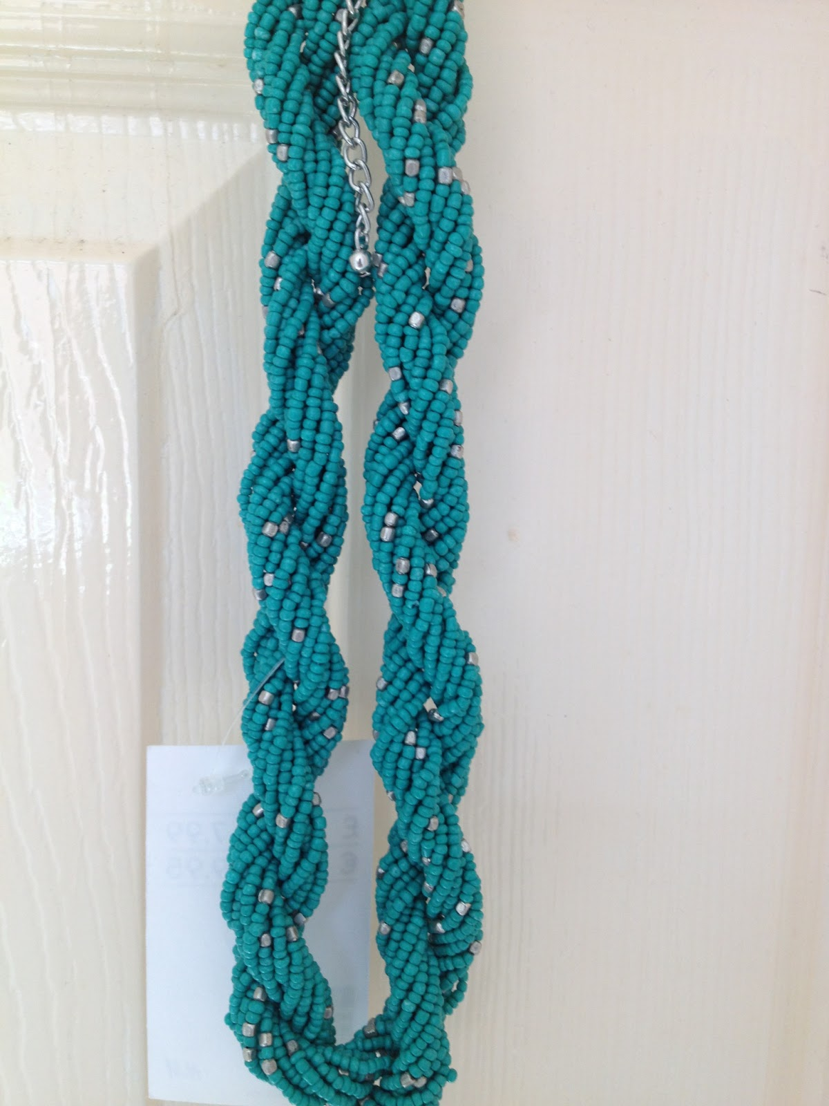 HM Green Colour Twisted Rope Style Necklace