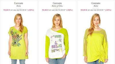 Camisetas de colores vivos