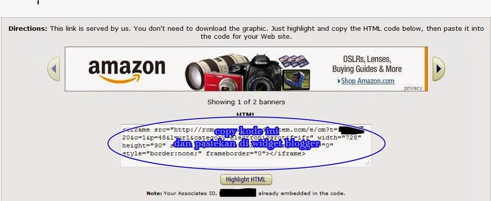 Kode Banner Amazon 1