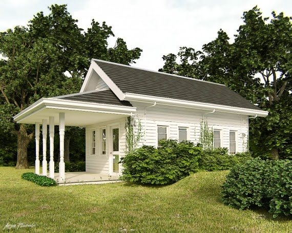 Rumah Mewah Sederhana di Luar Negeri
