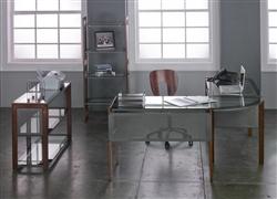 Glass Office Furniture Set