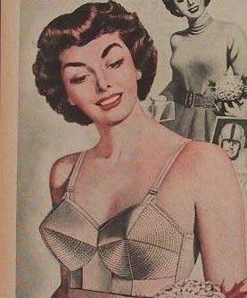 1950's bullet bra magazine ad