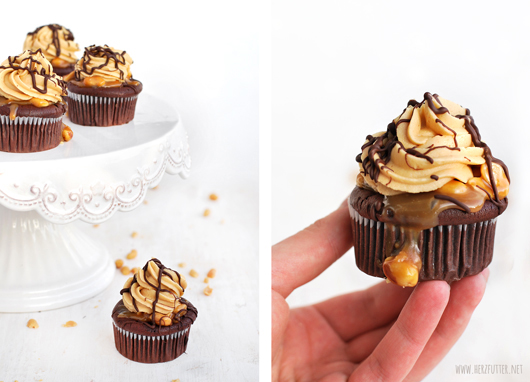 Erdnussbutter-Schokoladencupcakes