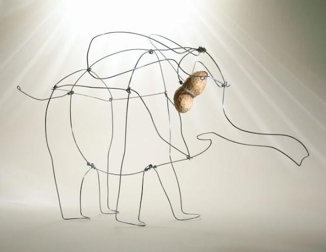 слон из проволки