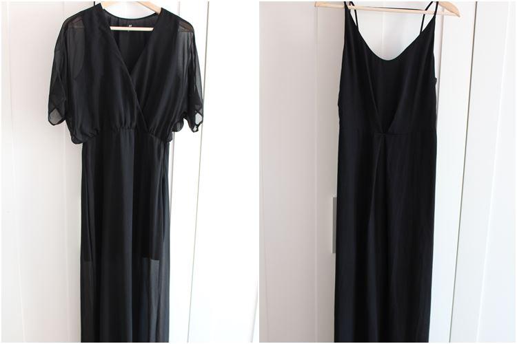 schwarze lange Kleider