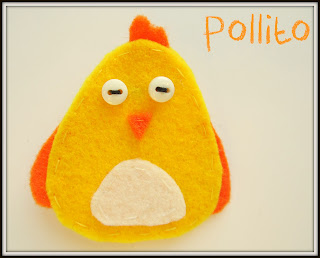 Broche Pollito Fieltro Amarillo