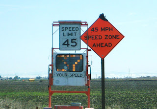 watch your speed, 45 mph speed zone ahead, onelovejourney2012, one love journey 2012, one love travels