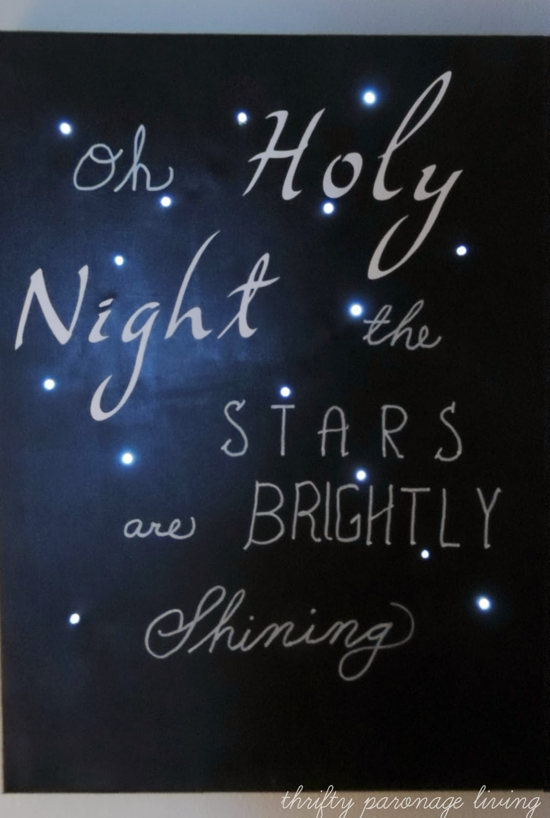 Thrifty parsonage living oh holy night christmas canvas for O holy night decorations
