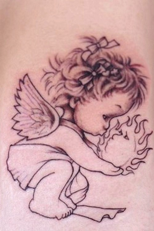 Tattoo Design: Baby Angel Tattoo Designs