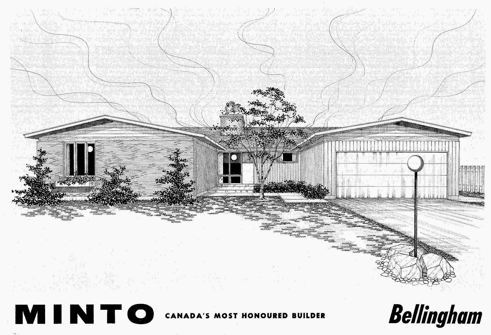 The Ranch Houses From This Series Of Plans Are Sprawling And Have Modern Asymmetrical Facades All Three These Won A Canadian Housing Design