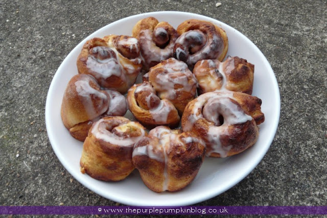 Easy Cinnamon Rolls at The Purple Pumpkin Blog