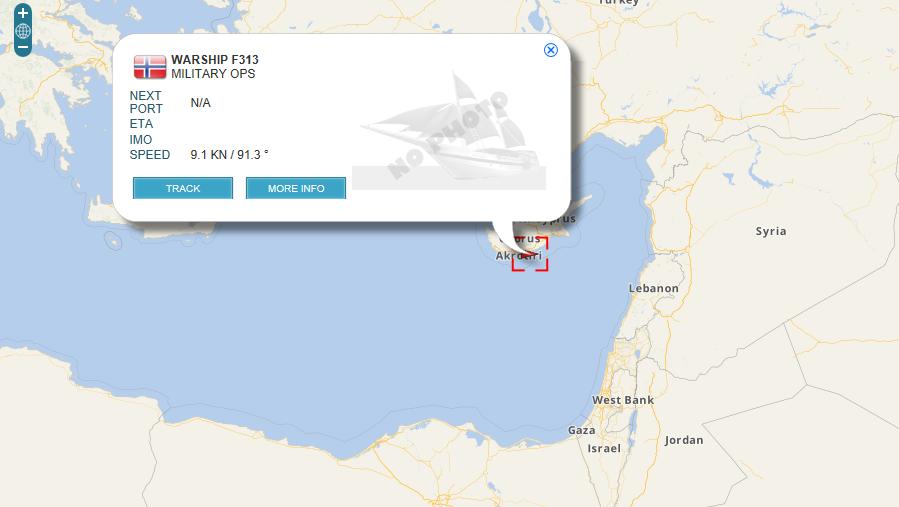 Eastern Mediterranean Military Ships