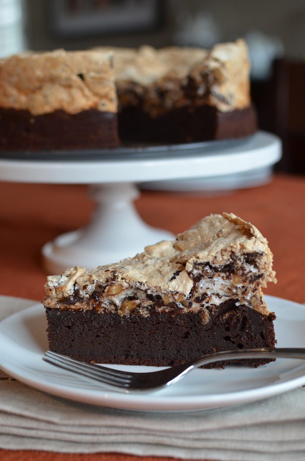 Chocolate & Hazelnut Meringue Cake Recipe — Dishmaps