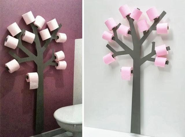 árbol papel higiénico creativo