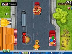 Xe tải chở thức ăn, game dua xe