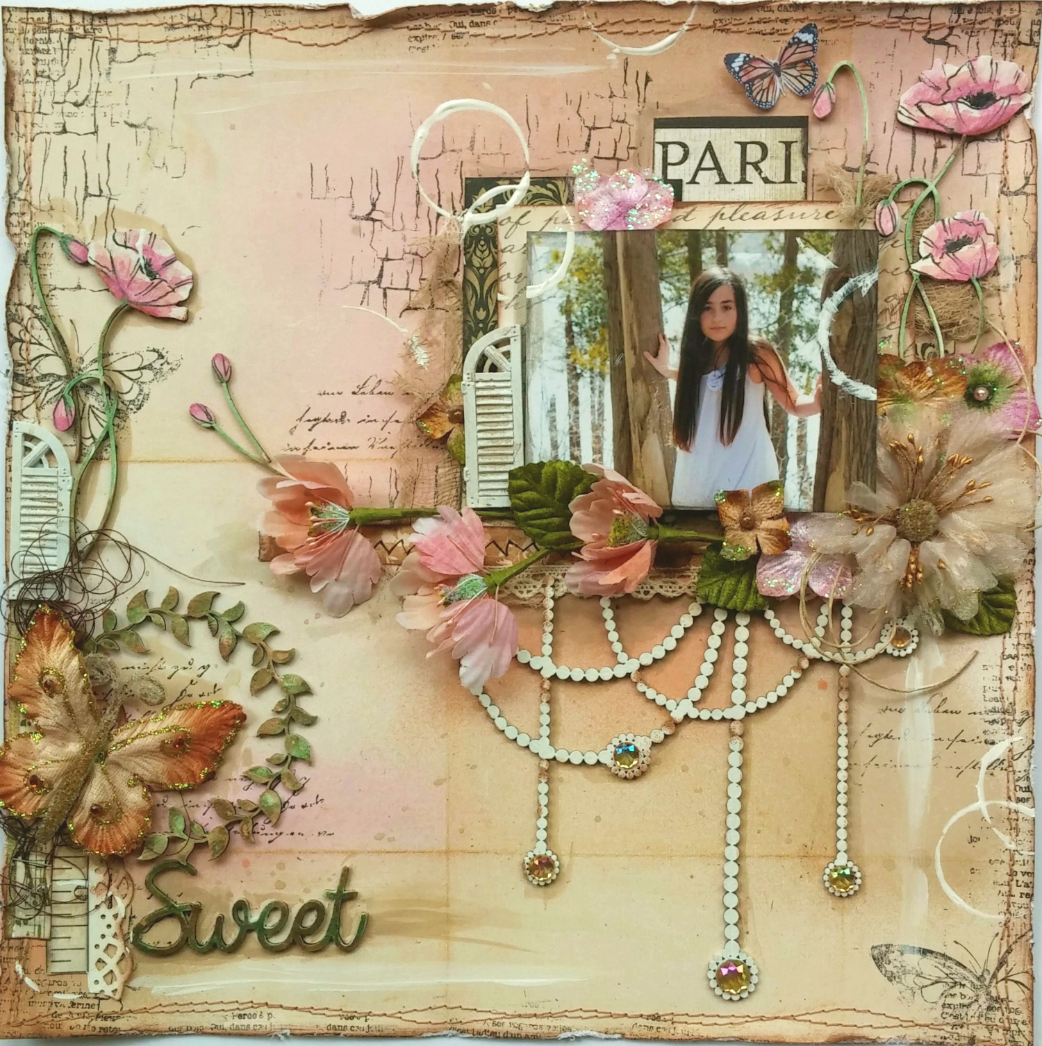 Shimmerz Paints: A Mixed Media Scrapbook Page Video