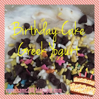 Birthday Cake, Healthy, Greek yogurt, clean eating, 21 Day Fix, recipe, dessert