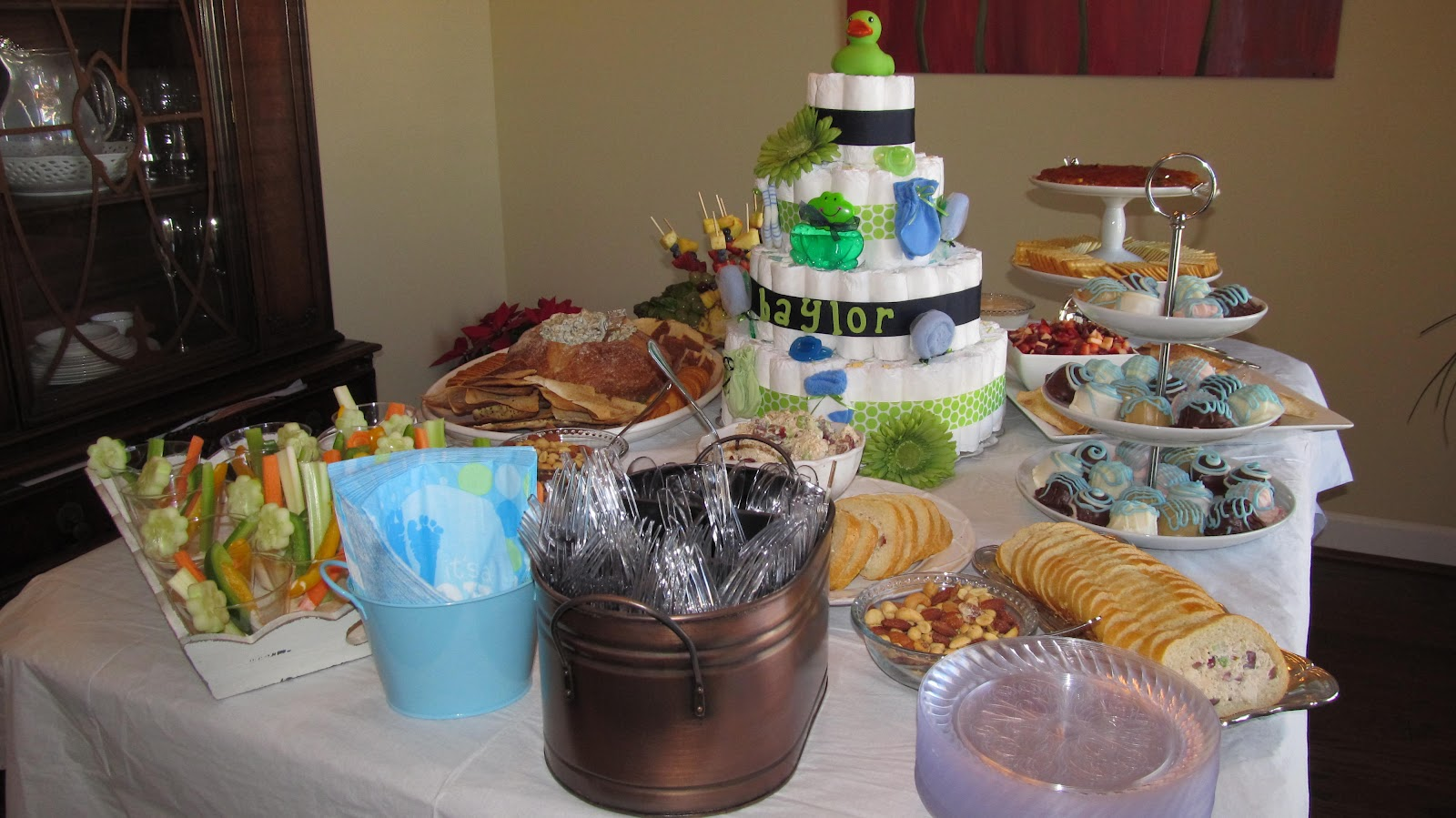 baby shower food table set up the yummy food table