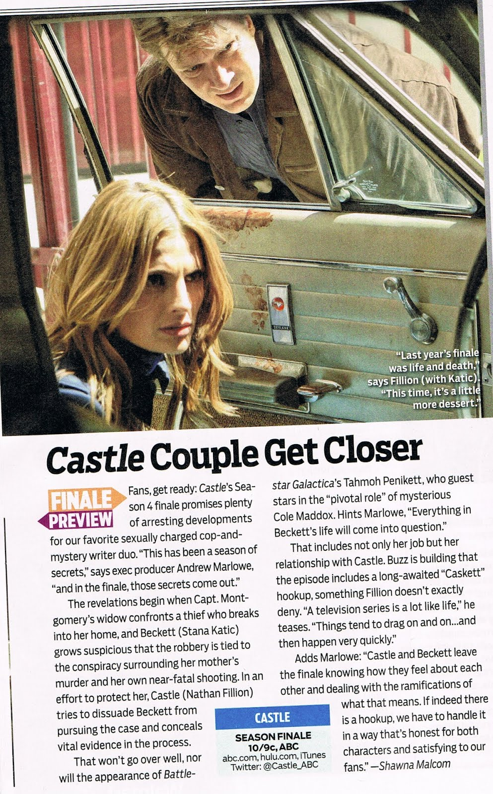 Castle in TV Guide (May 7-20, 2012)