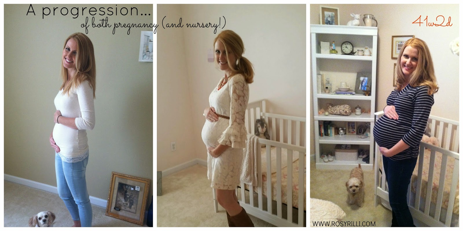 ROSYRILLI.COM My pregnancy progression photo idea