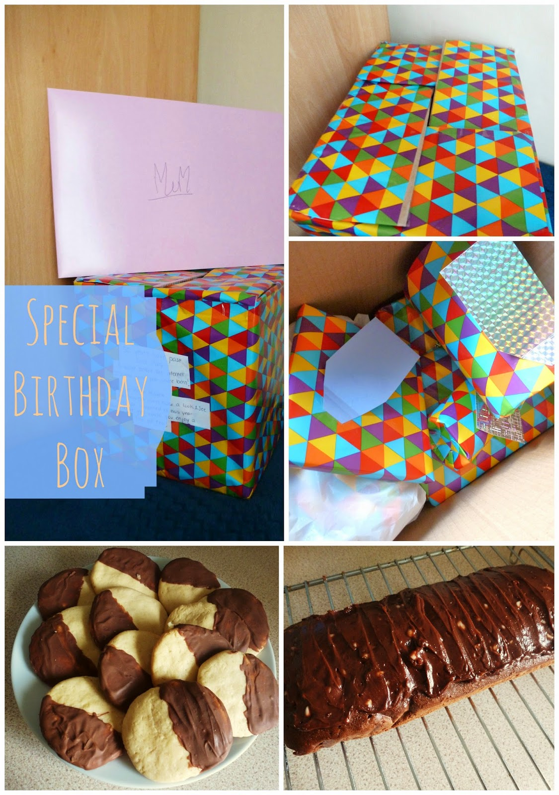Special birthday box, present gift idea, for parents and grandparents