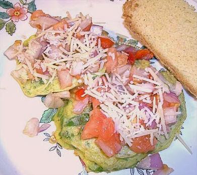 Vegetable Pancakes with Tomato Salsa