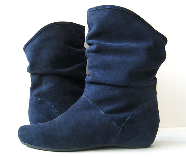 closet steve madden blue suede boots leather blue