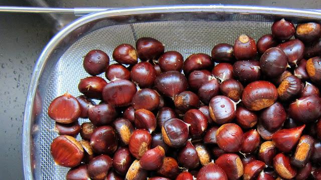 washing chestnuts