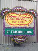 bunga papan selamat berbahagia pernikahan tangerang