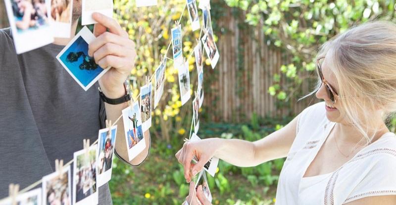 Caja decoracion boda fotos polaroid cheerz retales de bodas