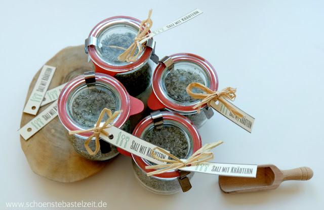 Salz mit mediterranen Kräutern - selbstgemacht von (c) www.schoenstebastelzeit.de
