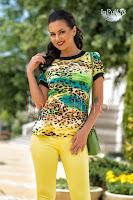 Bluza imprimeu multicolor din bumbac (MBG)