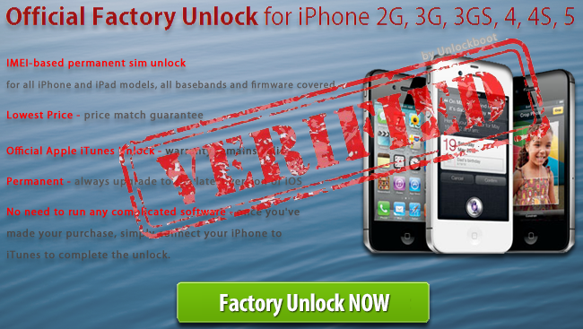 iOS 6.1 Unlock by IMEI