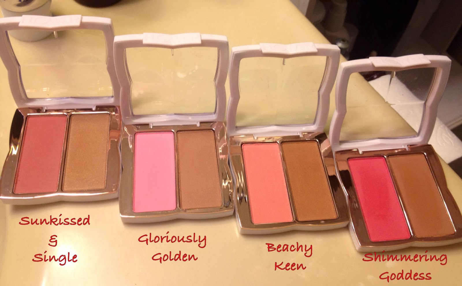 Actually erica flower beauty haul with swatches gloriously golden looks like the bronzer has some shimmers in it but it swatches totally matte sunkissed single has a matte blush izmirmasajfo