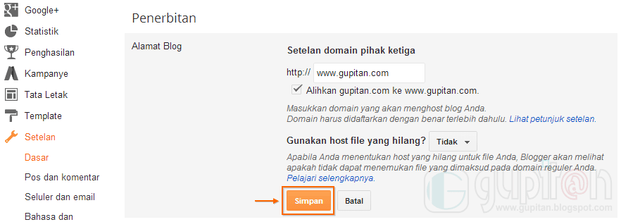 Cara Setting Custom Domain Blogger di Namecheap [gupitan]