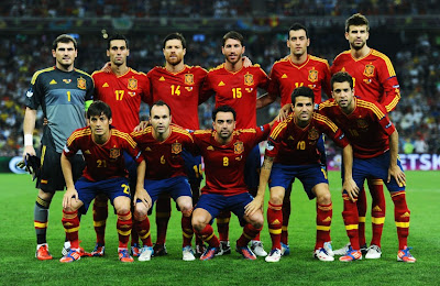 Spain Football Team 2012 Euro vs France