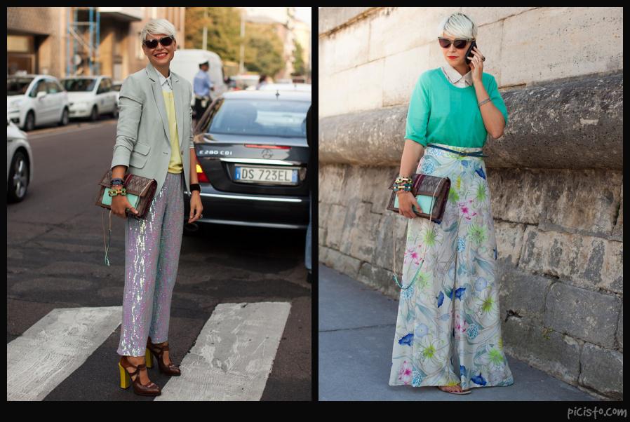 Elisa Nalin Wearing Pastels