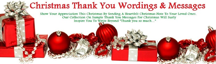 Christmas Thanks Wordings