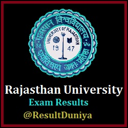 Rajasthan University B.Com Revaluation Results
