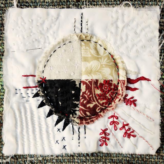 Galia Alena Prayer Flag, Textile Art