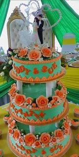 3tier Wedding Cake Buttercream + (32pcs cuppies FOC)