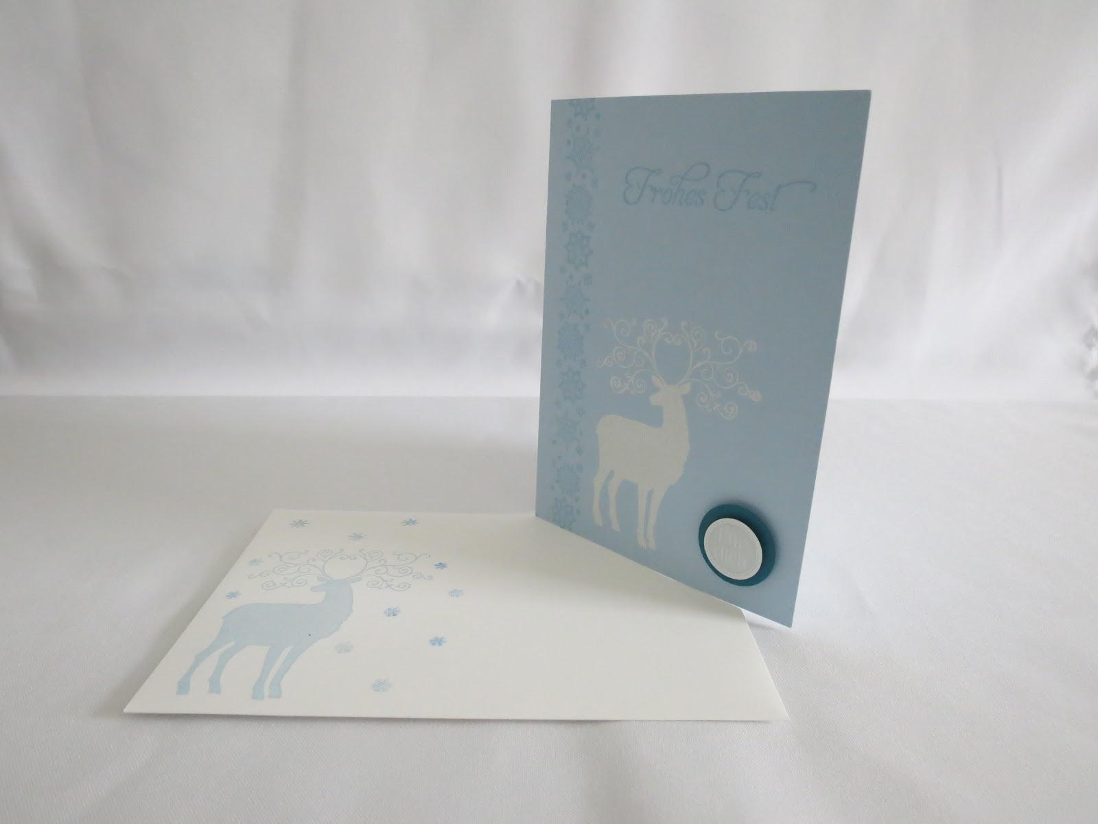 Diana s kreative welt weihnachtskarte einer freundin - Weihnachtskarte freundin ...