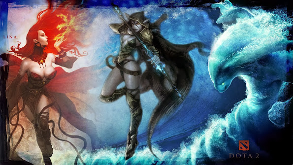 lina slayer traxe drow ranger morphling dota 2 hd wallpaper 1920x1080 9i