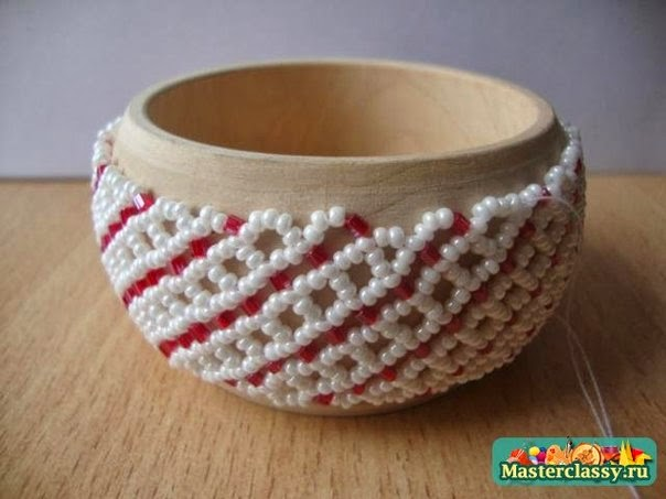 Шкатулка, декорированная бисером
