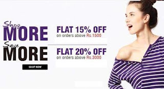 Flat 15% & 20% extra Discount on Already Discounted Fashion Brands upto 70%