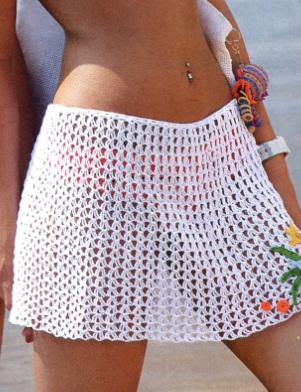 Пляжную юбку связать крючком