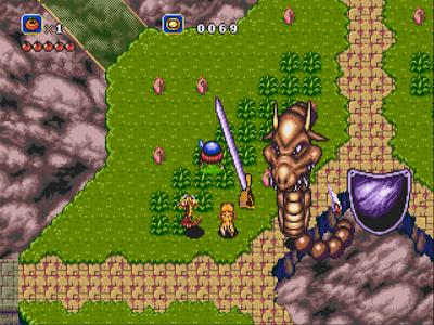 Le dragon gardien du Paradis dans Soleil sur Megadrive