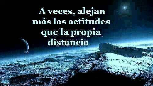 actitud y distancia