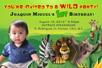 Jungle Safari Party Invitation