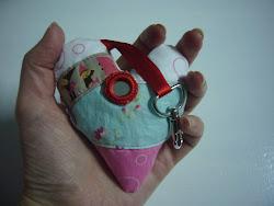 [ porta-chaves em coração Ref.: #028 ]